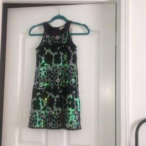 Beautiful double shade black party dress!